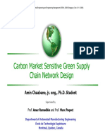 Carbon Market Sensitive Green Supply Chain Network Design