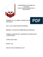 Congreso Profesor Julio 103 Tarea