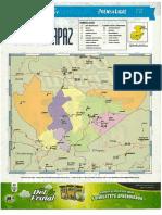 Mapa Politico Baja Verapaz
