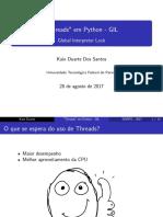 Threads em Python - GIL