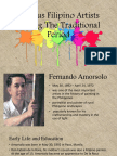 Famous Filipino Artists During the Traditional Period