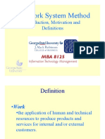 Work Systems Method