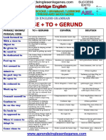 PHRASE + TO + GERUND
