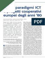 Nuovi paradigmi ICT e progetti cooperativi europei degli anni '80
