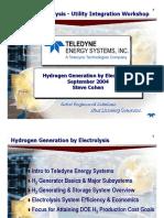 Obtencion de Hidrogeno Por Electrolisis (English)