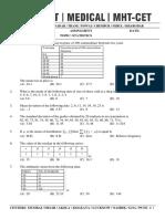 Statistics - Question Paper