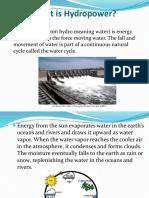 Hydropower- Power Point Presentation