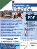 Afiche Evento Proteccion Sismica Baja