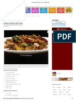 Cashew Chicken Stir-Fried - Recipe Book
