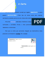 Gênero Textual -Carta