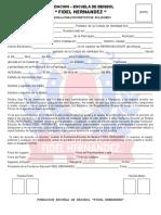 Planilla Unica de Inscripción EBFH