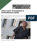 """Daniel Colson_ """"El Anarquismo Es Extremadamente Realista"""""""