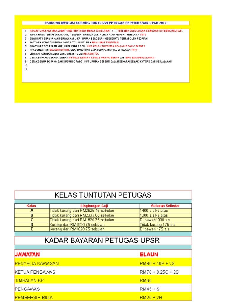 Dokumen Tips Borang Tuntutan Pengawas