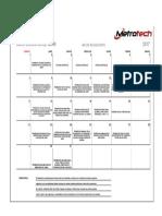 Calendarizacion Mensual de Actividades