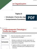 EO - T6 - Teoria Dos Jogos e Comportamento Estratégico