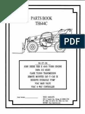 Th644c Manual Parts | | Valve on