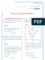 SemestraL 10 II 03 GEO an Ecuacion Parabola