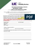 ADHD Documentation Form