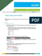 Facset Utility Quick Porfolio