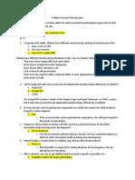 Pediatric Disaster Planning Quiz