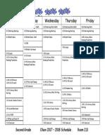 master schedule 2017-2018
