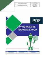 Programa de Tecnovigilancia
