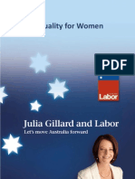 Equality for Women Policy Statement - Fact Sheet
