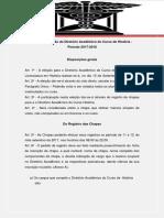 Edital de Eleição Do Diretório Acadêmico Do Curso de História