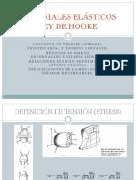 Materiales Elásticos-ley de Hooke