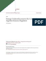 Sperduto (2016) - Strategic Underenforcement in the Context of Argentine Insurance.pdf
