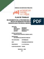 24-07-2017 Final Plan Trabajo - Mantenimiento de Compactadora
