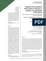 politica fiscal para colombia