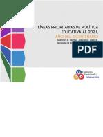 Lineas Prioritarias de Politica Educativa Al 2021