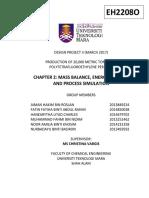 Chapter 2 - Mass Balance, Energy Balance and Process Simulation