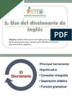 2. Uso Del Diccionario de Inglés