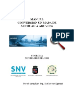 SIG CHO PC Manual Conversion Un Mapa de AutoCAD a ArcView