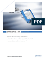 9033P Optisonic 6400 Flowmeter Datasheet