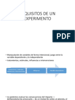 Requisitos de Un Experimento