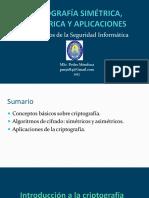 Sistemas Criptográficos Simétricos y Asimétricos