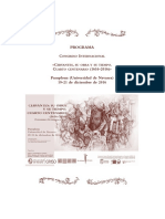 Congreso Cervantes Pamplona 2016