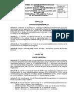 REGLAMENTO GENERAL PARA EL PROCESO DE ELECCIÓN DE LOS REPRESENTANTES DEL COMITÉ DE SEGURIDAD