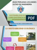 Sostenibilidad Ecológica Como Existencia de Justicia Intergeneracional