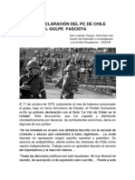 Primera Declaración del PC de Chile luego del Golpe Fascista, Iván Ljubetic