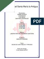 Aguas de Uso Publico y Privado - Lab de Ingenieria Sanitaria 20171010