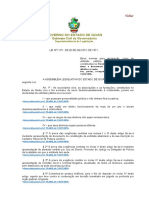 Lei 7.371-71 Utilidade Pública Goiás