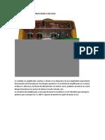 Arquitectura de Un Amplificador a Válvulas