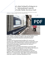 We Were Bad, What Ireland is Doing is 10 Times Worse' - International Experts Unimpressed With Public Services Card