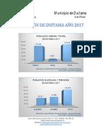 Proyecciones de Poblacin Municipal Duitama 2017