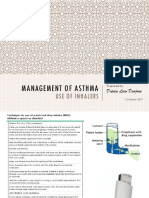 Management of Asthma - Use of Inhalers