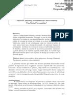 La Relación Afectiva y La Manifestación Psicosomática. Una Visión Psicoanalítica - Oscar Restrepo López